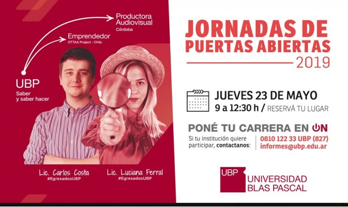 Jornada Puertas Abiertas UBP 2019